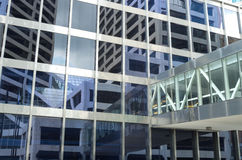 Skyscraper Reflections and Skyway Stock Image