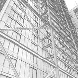 Skyscraper rendering in lines Royalty Free Stock Photo