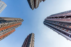 Skyscraper in Residential area Royalty Free Stock Image