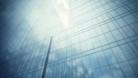 Skyscraper's glass wall Royalty Free Stock Photography