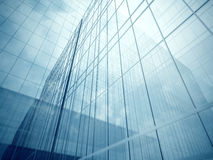 Skyscraper's glass walls Royalty Free Stock Image