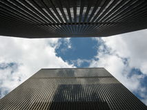 Skyscraper. S and sky in downtown of New York, Manhattan Stock Photos