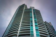 Skyscraper in South Beach, Miami Beach, Florida. Royalty Free Stock Photos