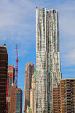 Skyscraper 8 Spruce Street designed by Frank Gehry in Manhattan, New York City Royalty Free Stock Photography