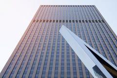 Skyscraper steel facade modern american architecture. Stock Photos