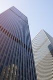 Skyscraper steel facade modern american buildings. Stock Images