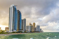 Skyscraper at Sunny Isles Beach. In Miami, Florida Stock Photography