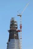 Skyscraper top construction Stock Photo