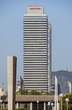 Skyscraper Torre Mapfre in Barcelona Stock Image