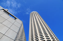 Skyscraper towering up into the sky Royalty Free Stock Images