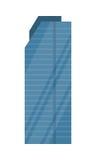 Skyscraper Vector Illustration in Flat Design Stock Photography