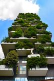 Skyscraper vertical forest in Milan Stock Images