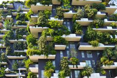 Skyscraper vertical forest in Milan Royalty Free Stock Photo