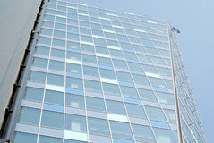 Skyscraper view. Perspective height view of a modern skyscraper building Stock Photography