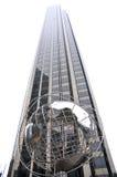 Skyscraper view with globe at Columbus Circle Stock Image