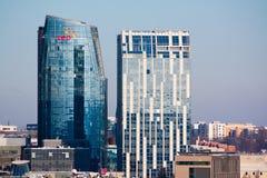 Skyscraper. A skyscraper in Vilnius, Lithuania stock photo