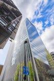 Skyscraper `The Walkie-Talkie` in London. Commercial skyscraper `The Walkie-Talkie` in London against blue cloudy sky Royalty Free Stock Photo
