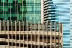 Skyscraper walls background Royalty Free Stock Images