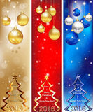 Skyscraper web Banner set for 2016 winter holiday. Skyscraper web Banner set for Christmas and New Year 2016, in three colors (160x600px). Contains Christmas royalty free illustration