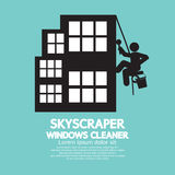 Skyscraper Windows Cleaner Stock Image