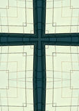 Skyscraper windows cross. Kaleidoscope cross from photo of windows on Charlotte, North Carolina, skyscraper Stock Image