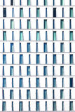 Skyscraper with windows structured in rows with differ Stock Image