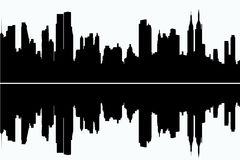 Skyscrapers. Vector silhouette of the skyscrapers Royalty Free Stock Photography