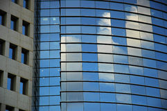 Skyscrapers. With reflection. Horizontal view Stock Photography