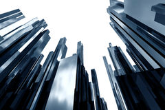 Skyscrapers. Modern skyscrapers with blured sky reflections Stock Photo