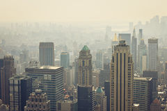 Skyscrapers. Photo of skyscrapers of New York City from the Empire State Building Royalty Free Stock Image