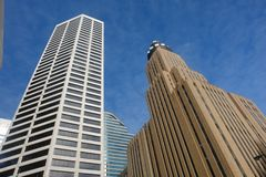 Skyscrapers. A picture of a pair of tall business offices royalty free stock images