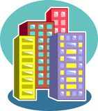 Skyscrapers royalty free illustration
