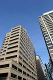 Skyscrapers. Office buildings, condos royalty free stock photos