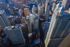 Skyscrapers from above royalty free stock images