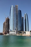 Skyscrapers in Abu Dhabi Stock Photography