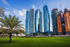 Skyscrapers in Abu Dhabi, UAE Royalty Free Stock Photos
