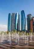 Skyscrapers in Abu Dhabi, UAE Royalty Free Stock Image