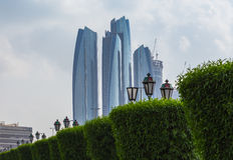 Skyscrapers in Abu Dhabi, UAE Royalty Free Stock Photo