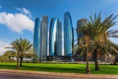 Skyscrapers in Abu Dhabi, UAE Stock Image