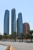 Skyscrapers of Abu Dhabi, United Arab Emirates Stock Photos