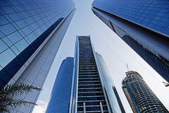 Skyscrapers in Abu Dhabi, United Arab Emirates Stock Photography