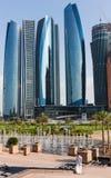 Skyscrapers in Abu Dhabi, United Arab Emirates Stock Photos