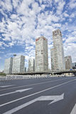 Skyscrapers against a blue sky in Beijing center, China Stock Photos