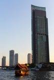 Skyscrapers along the Chao Phraya River, Bangkok Stock Image
