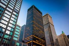 Skyscrapers along Park Avenue, in Midtown Manhattan, New York. Stock Image