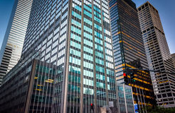 Skyscrapers along Park Avenue, in Midtown Manhattan, New York. Stock Photography