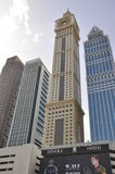 Skyscrapers along Sheikh Zayed Road in Dubai, UAE Royalty Free Stock Image