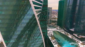Skyscrapers Architecture in a city. Aerial. Urban Office Buildings. Aerial. Urban Office Buildings. Skyscrapers Architecture in a city. 4K stock video