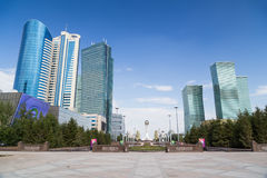 Skyscrapers in Astana, Kazakhstan Stock Photo