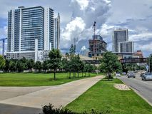 Skyscrapers of Austin Texas. New modern skyscrapers of downtown Austin Texas Royalty Free Stock Images